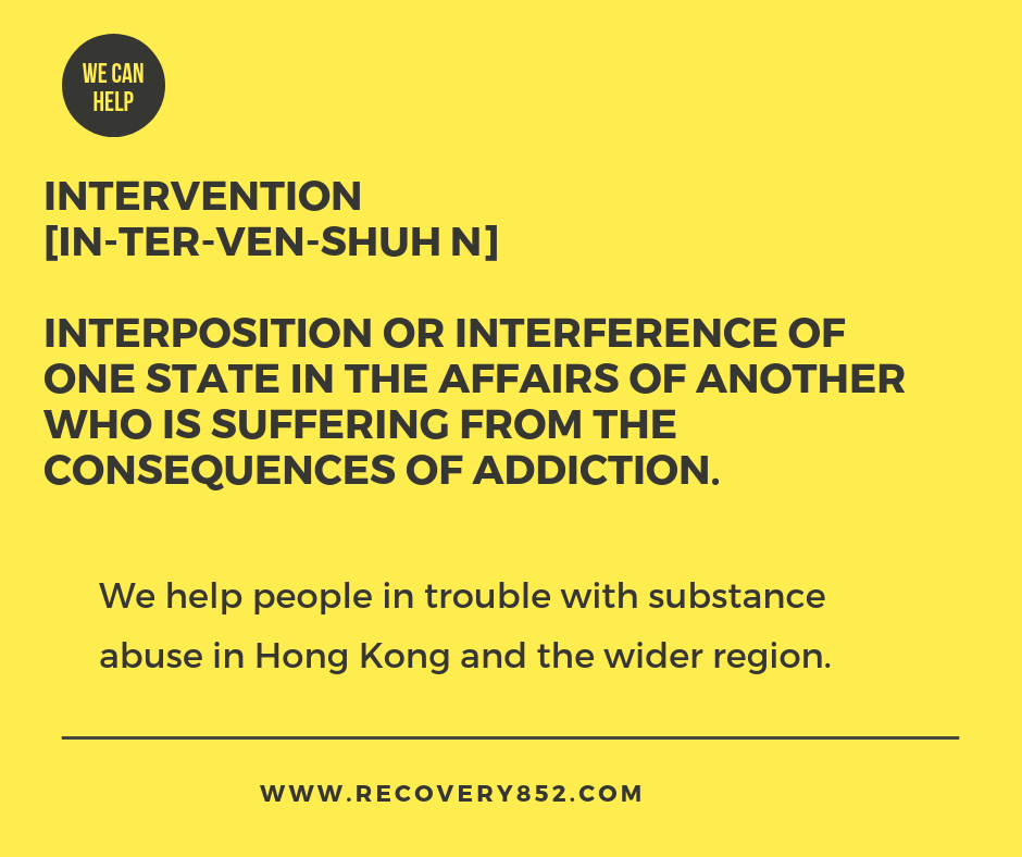 intervention Hong kong Recovery852 help addiction